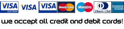 we accept all credit and debit cards