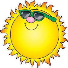 even the sun wears sunglasses