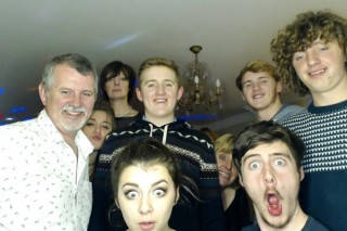 Family photo from Robert's 18th